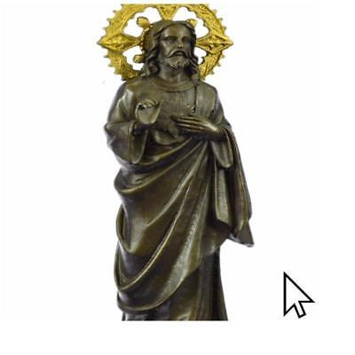 Very Rare Jesus Christ -Last Dinner Hotcast Deco Bronze BW Sculpture Statue