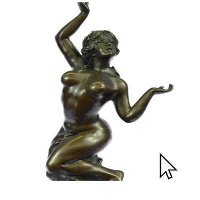 HandmadeFrustration Satyr And Nymph Bronze BW Sculpture Mythical Figurine