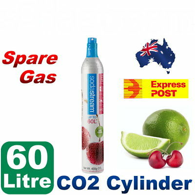 New Spare Soda Stream 60L Gas C02 Cylinder Refill For All Sodastream Makers