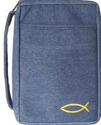 """Bible / Book Cover Denim - Fits Size Up To 9.5"""" x 6"""" - CTI-DEN-ML"""