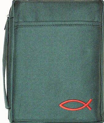 """Bible / Book Cover Green - Fits Sizes Up To 10"""" x 7.5"""" GRN-W"""