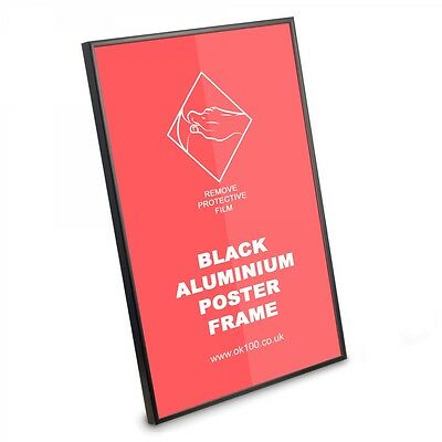 Black Silver Aluminium Picture Poster Prints Certificates Photo Frame Many Sizes