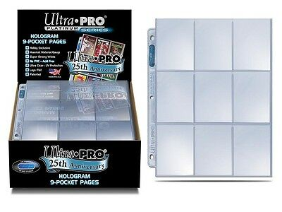 ULTRA PRO 25th Anniversary 9-Pocket Page - Pre-punched 3-holes Toploading