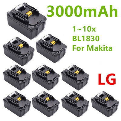 1-10pcs 18V 3.0AH 3AH LITHIUM ION BATTERY FOR MAKITA BL1830 LXT UK LATEST PACK
