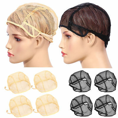 10x Wig Caps Mesh Net With Adjustable Stretch Lace Straps For Making Wigs NEW