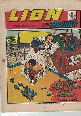 Lion and Thunder Comic - 9th December 1972