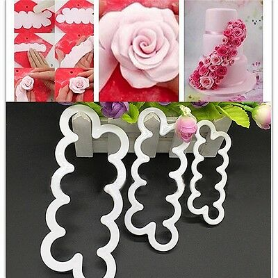 DIY Silicone Tool Cookie Fondant Decorating Rose Flower Cutter Cake Mold