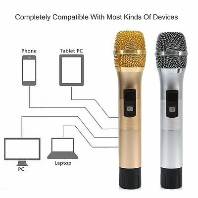 Wireless Microphone Karaoke for Music Playing Singing Machine KTV 25Ch K28 GT