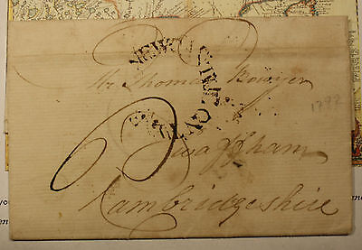 1792 Swaffham 1 Page Letter Wrapper Cover - Brewer Thomas Bowyer