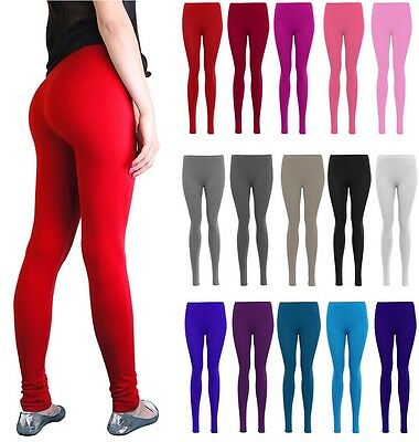 New With Tag Ladies Women's Girls Plain Viscose Stretchable Legging Trouser
