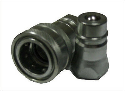 "Hydraulic Quick Coupler- Ag Type -3/8""- ISO 5675 Set of 4"