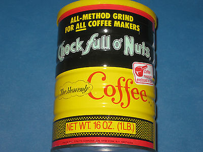 VINTAGE CHOCK FULL O NUTS THE HEAVENLY COFFEE 16 oz CAN W/ LID SEALED UNOPENED
