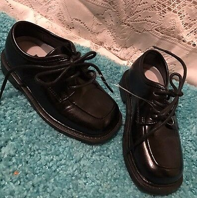 Deer Stags Black Toddler Boys Kids Dress Shoes Sz 6.5 M