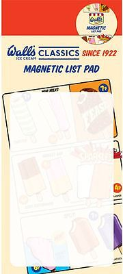 Wall's Lollies Magnetic To Do List Pad / Shopping List Pad