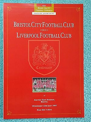 1997 - BRISTOL CITY v LIVERPOOL PROGRAMME - FRIENDLY