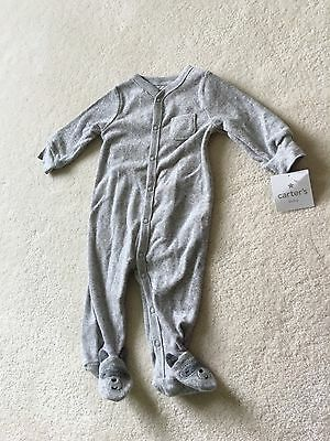 NWT Carters Raccoon Footed Sleeper Pajamas Size 6m 6 Months