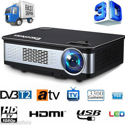 3300 Lumens 3D Beamer LED Projektor Heimkino 1080P Full HD HDMI SD USB Office DE