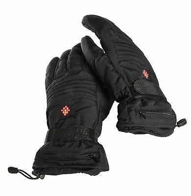 Ivation Heated Warm Gloves, Electric Rechargeable Fleece lined, (Small)
