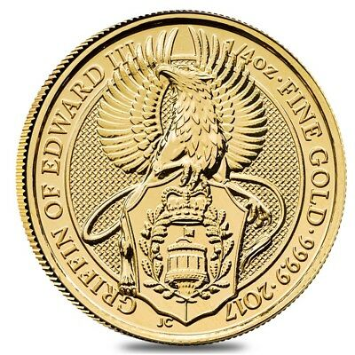 2017 Great Britain 1/4 oz Gold Queen's Beast (Griffin) Coin .9999 Fine BU