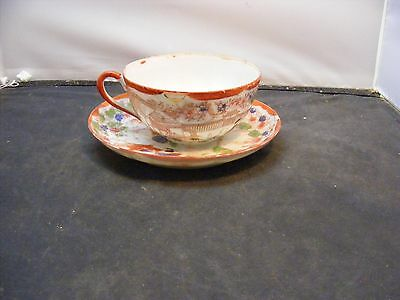 antique japanese porcelain cup and saucer signed japan early japanese porcelain