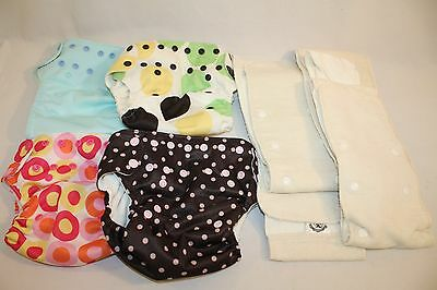 Infant Baby Swaddle Bees Washable Re-Usable Cloth   Nappy Diapers Liners Lot 4