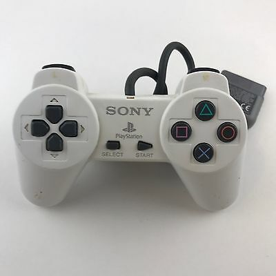 OFFICIAL Sony PlayStation SCPH-1080 1 PS1 White Controller TESTED WORKS SEE PICS