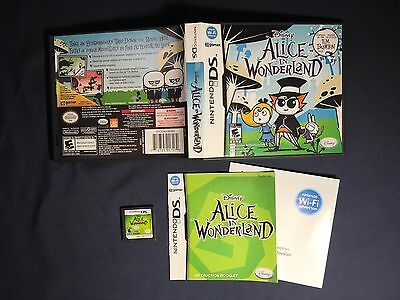 Disney Alice In Wonderland For Nintendo DS  - NA Version Works Great Complete