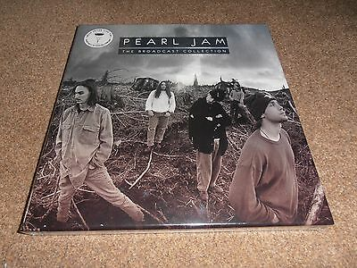 PEARL JAM THE BROADCAST COLLECTION LP LTD Triple Clear Vinyl Deluxe Boxset - New