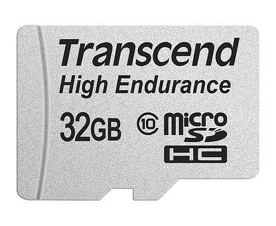 32GB Transcend High Endurance MicroSDHC Card CL10 w/SD Adapter