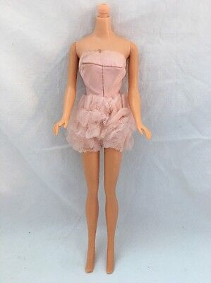 Vintage Barbie Doll Clone Knock Off Fashion PINK BODYSUIT Ruffled