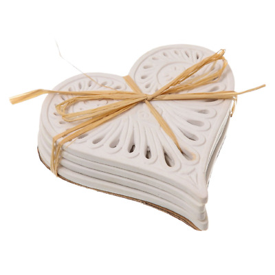 Cabana Cream Love Heart Coasters #20625