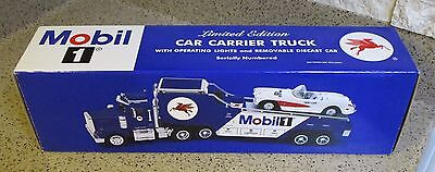 Mobil 1 Limited Edition Car Carrier & 1957 Die-Cast Corvette. Serial # 12004 New