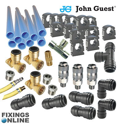 JG Workshop 15mm Pipe - Air Line kit -9m Kit Includes Hi Flow (euro) Couplings