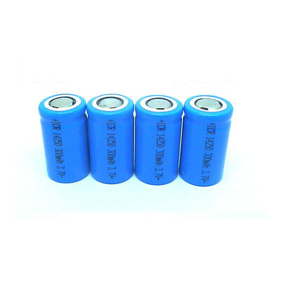4PCS 3.7V 300mAh 14250 Rechargeable Li-ion Battery for Electronic Toys