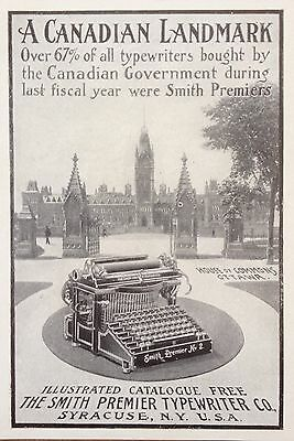 Antique 1903 Ad(F16)~The Smith Premier Typewriter Co. Syracuse, Ny.