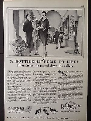 Vintage 1929 Ad(E13)~Red Cross Shoes