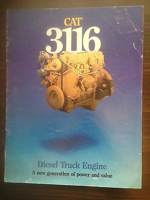 Vintage Caterpillar 3116 Diesel Truck Engine Sales Brochure