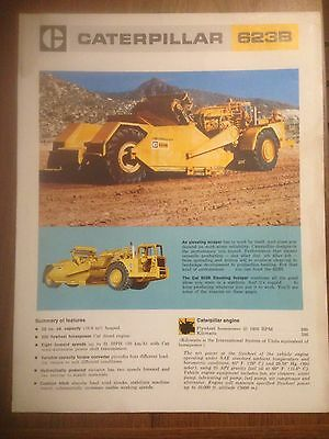 Vintage  Caterpillar 623B Elevating Scraper Sales Brochure