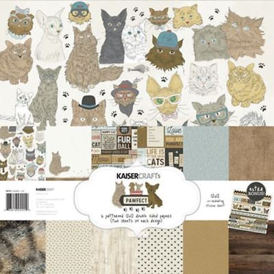 Kaisercraft - Pawfect - Cat - 12x12 Paper Pack with Bonus Sticker Sheet (PK555)