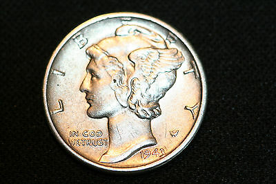 UNCIRCULATED 1943-S Mercury Silver Dime Frosty Free Ship
