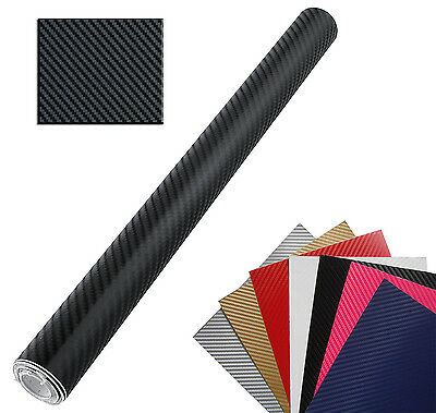 FILM CARBON 3D SHEET STICKER ADHESIVE CAR WRAPPING CAR MOTORBIKE 50 x 50 NERO