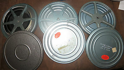 Vintage Four Hundred Foot 8mm Home Movie Film Reel Lot, Three 400 Feet Reels Can