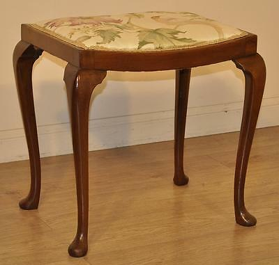 Attractive Antique Victorian Upholstered Walnut Piano/Dressing Stool