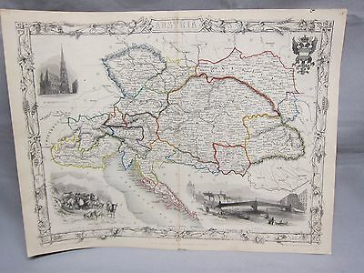 Old Map Of Austria & Neighbors Transylvania,Banat,Gallicia,Tyrol,Hungary,Moravia