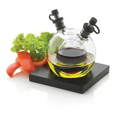 XD DESIGN Small Glass 5-Piece Orbit Oil and Vinegar Set Transparent