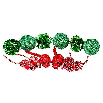 Blueberry Pet Toys For Cat Holiday Celebration Mice & Balls Cat Toy - 12-piec...