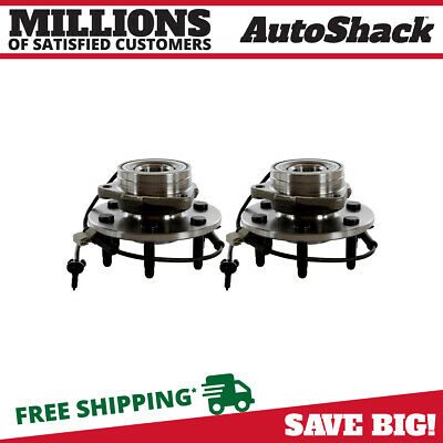 2 Front Wheel Hubs & Bearings Pair Set w/ ABS fits Chevy GMC Truck 4X4 4WD AWD
