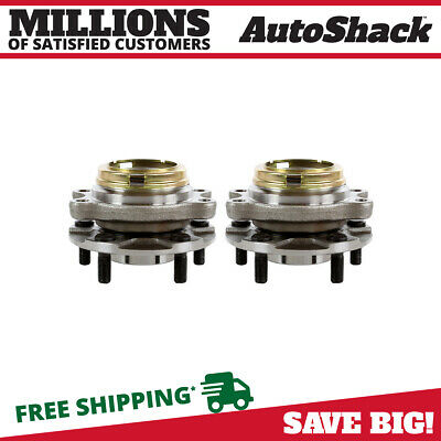 Pair of 2 Front Wheel Hub Bearings Set fits Nissan 03-07 Murano 04-09 Quest