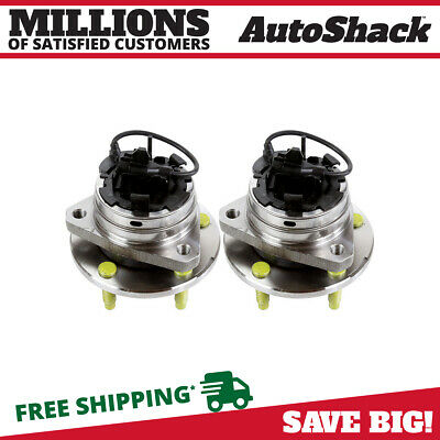 2 Front Wheel Hub Bearings For Cobalt Malibu HHR G6 Aura 5 Lug Stud W/ ABS