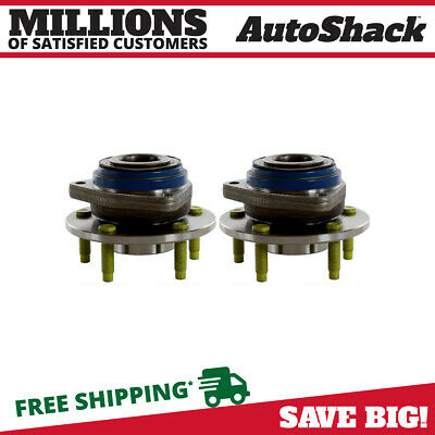 Front Pair (2) Wheel Hub Bearing Assembly Fits 2000-2008 Chevrolet Impala No ABS